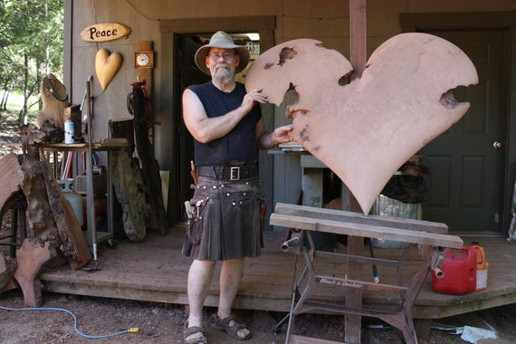 Custom  Order, Carved Wood Heart, for Anne, Personalized Wedding, Personalized Gift, by Gary Burns, wiz, treewiz, handmade, woodwork