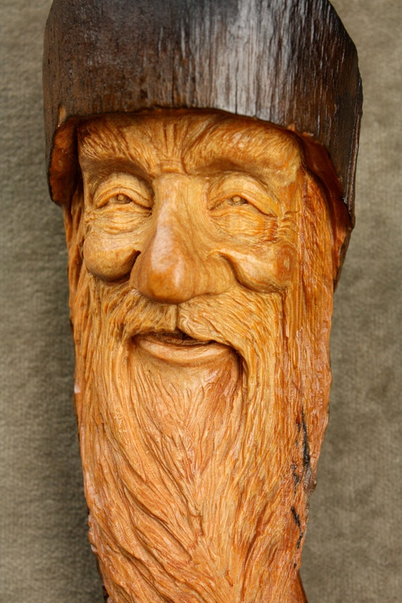 Wood Spirit Wood Carving Whimsical Christmas Gift for Dad on Etsy  by Gary Burns the Treewiz, Handmade Woodworking