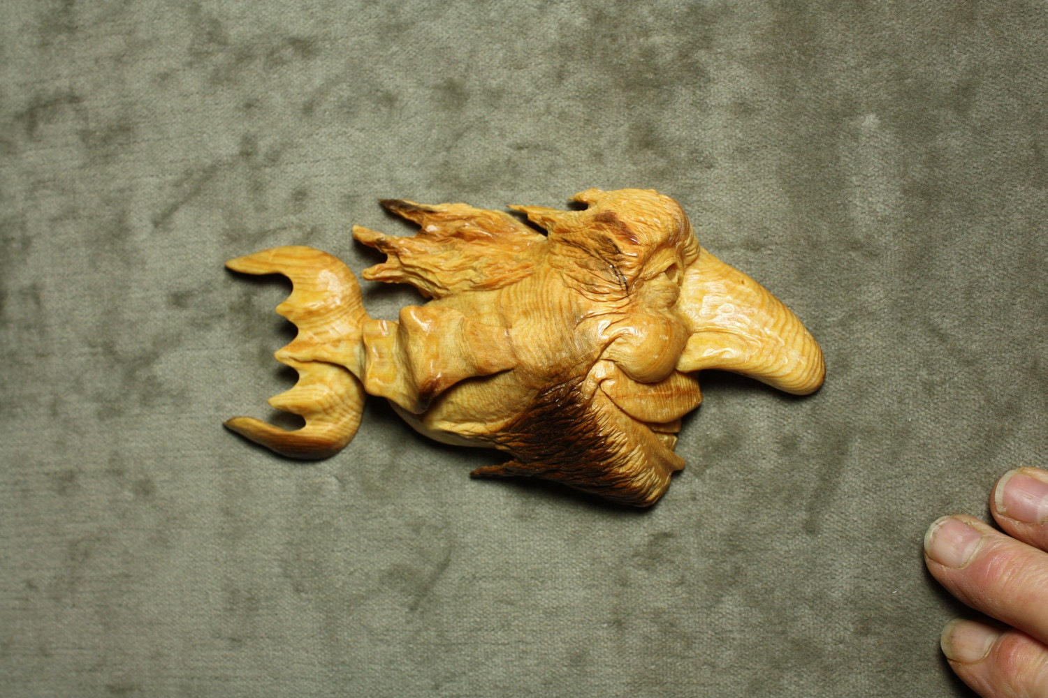 Wood fish carving wood carving beach log cabin decor for Fish wood carving