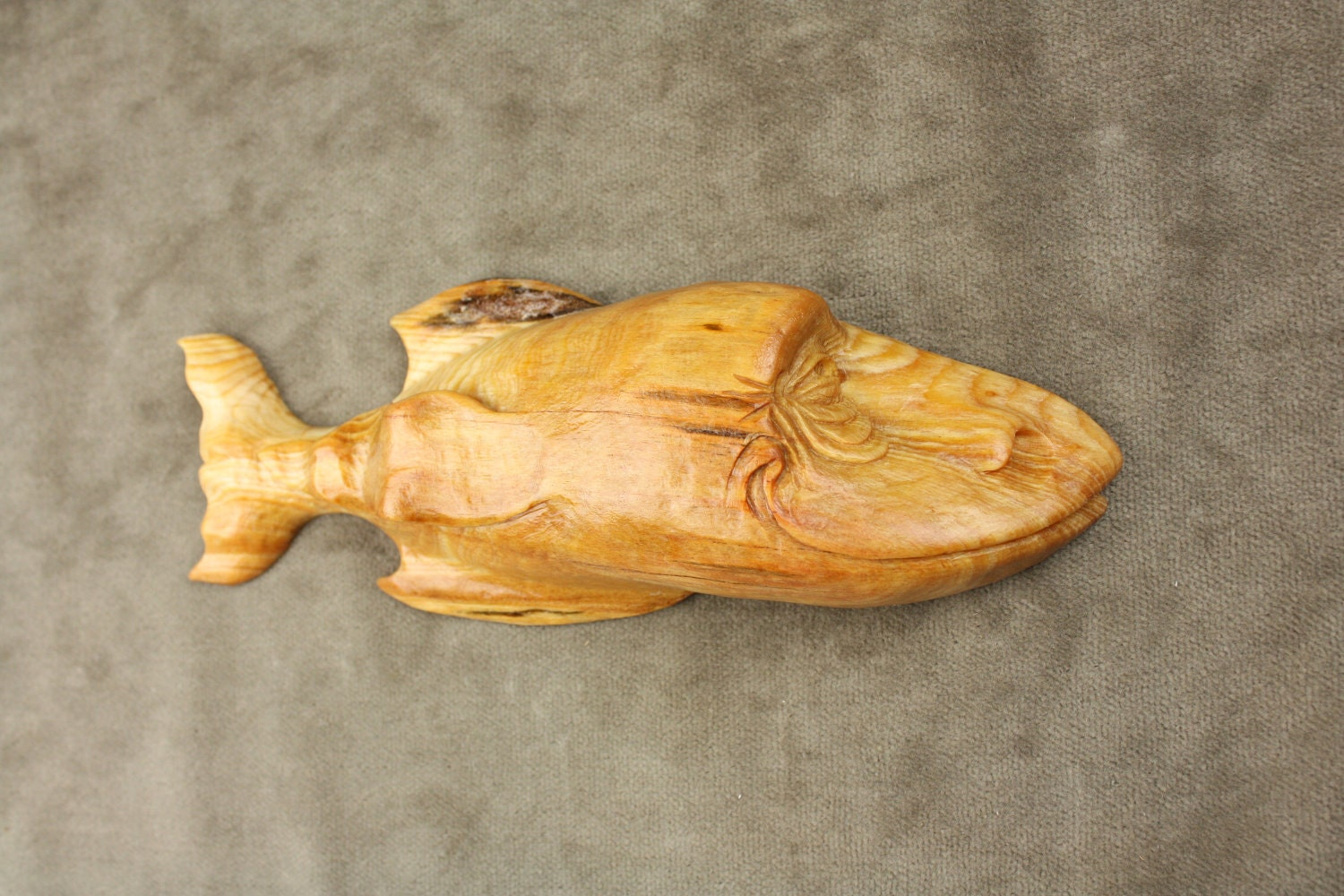 Fish decor mothers day gift wood carving by for Fish wood carving
