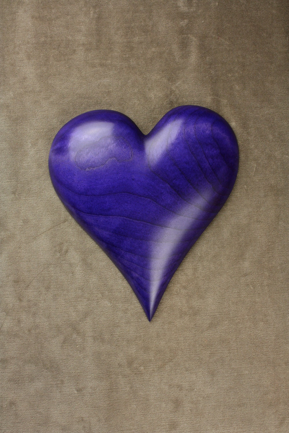 Personalized wedding gift purple heart wood by