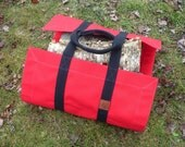 Firewood Carrier, Canvas Firewood Tote, Firewood Tote, Firewood Bag, Gift for Men, Canvas Carrier, Wood Tote, Wood Carrier, Firewood