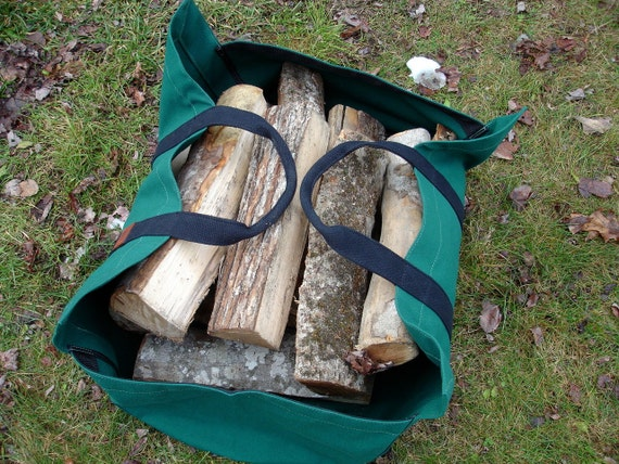 Firewood Carrier Canvas Sides Large Wood Carrier Firewood