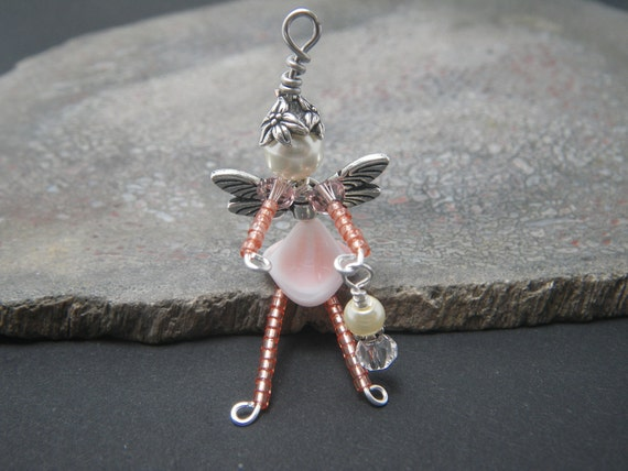 ANNE Pink Magic Good Luck Fairy Cell Phone Charm or Zipper Pull