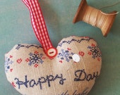 Dutch Heart Happy Day Pincushion- 100% Sales Donated to Japan Earthquake and Tsunami Relief