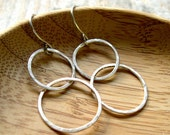 RESERVED LISTING FOR MARTHA - Simple Double Circle earrings