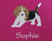 Custom Embroidered Canvas Tote Bag with Your Breed