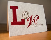 Letterpress card Love to You by The Permanent Collection