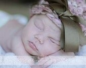 Chunky Newborn Cap directions for ribbon bow and pompom PDF 52
