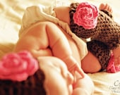 Crochet Pattern Spring Bloom hat and leg warmers PDF 41 and 46
