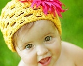 Crochet hat pattern Summer Breeze includes baby to adult size PDF 40