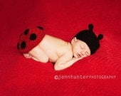Ladybug Hat and Tushy Topper Photography Prop Set Pattern  PDF 72