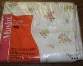 RESERVED FOR shopaholic32.  Vintage Bed Sheet Pink Rose Floral