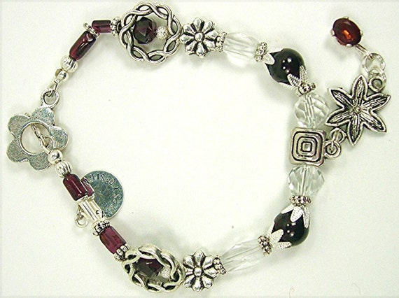 Glorious Deep, Rich Red Garnet Precious Gemstone Bracelet