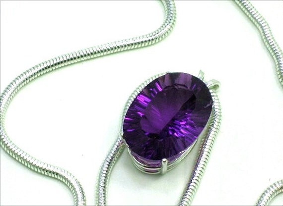AMETHYST Christmas Gift SPECIAL AAA Amethyst Gemstone Necklace Pendant Specialty Cut Large 21.8cts 22X16mm Jewel Amethyst Gemstone Pendant,