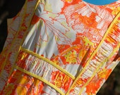 Vintage Lilly Pulitzer Maxi Dress Orange Yellow Size 18