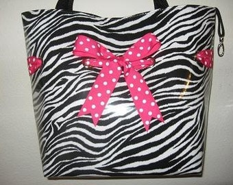 Large Zebra with Hot Pink Dot