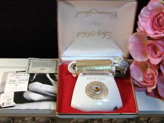 Vintage Lady Schick Crown Jewel Electric Razor Shaver Original
