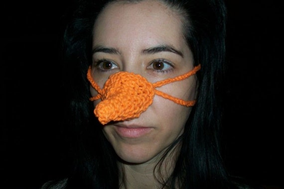Knitted Nose Warmer Pattern : Items similar to Snowman Carrot Nose Warmer Knit Pattern on Etsy