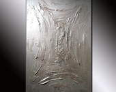 Original Painting Textured  Metallic Abstract Painting by Henry Parsinia large 36x24