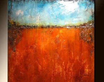 original modern abstract painting contemporary fine art by Henry Parsinia 36x36