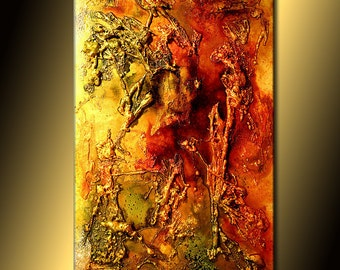 Canvas Art Painting Original Art, Modern Art, Texture Art, Metallic, Abstract Art, Contemporary Painting By Henry Parsinia, 36x24