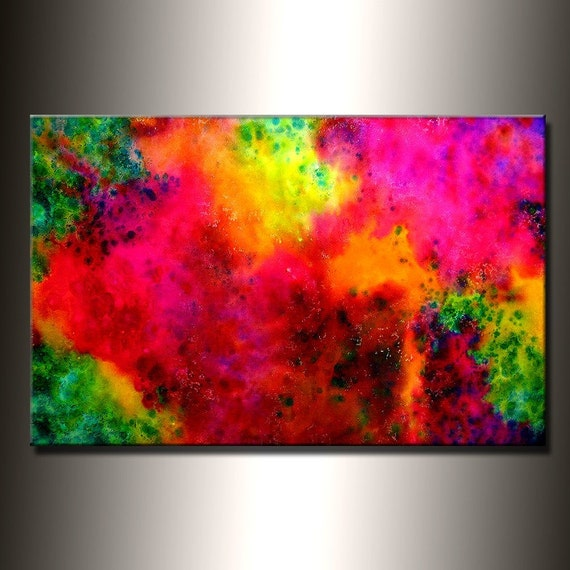 Original Modern Abstract Painting by Henry Parsinia large 36x24
