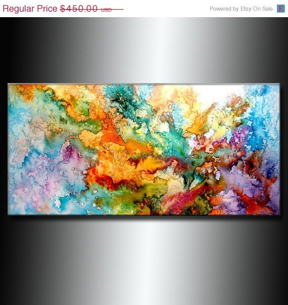 Items similar to original abstract painting modern for Inspirational paintings abstract