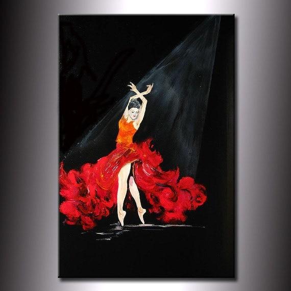 Dancing Girl Paintings Art Art Flamenco Dancing Girl