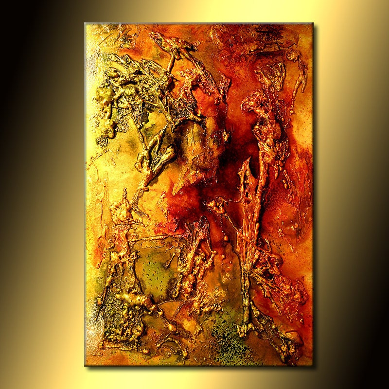 Abstract painting canvas art painting original modern art for Contemporary mural artists