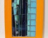 Orange and Teal Window Mosaic