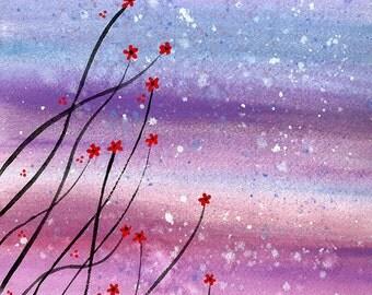 Evening Garden - Original watercolour painting by Kirsten Bailey