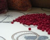 vintage Czech seed beads, dark red, opaque, 10g