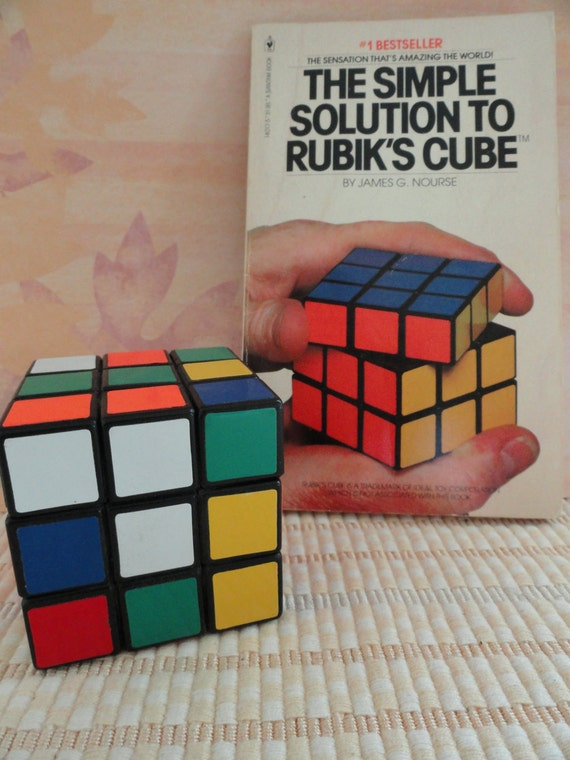 Vintage Rubik S Cube And Simple Solution Book
