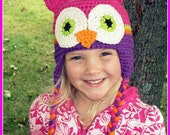 Pink and Purple Owl Hat