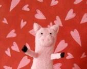Parker the Pig Finger Puppet