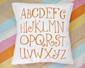 ABCs Pillow Slip with Insert - Choose your color