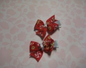 Peppermint Pinwheel Bows-Set of Two