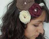 Fabric Flower Lace Headband