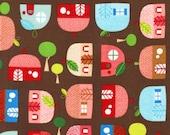 Suzy Ultman, Appleville, Apple Houses in Bright -fat quarter