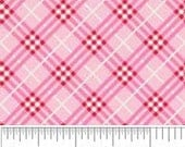 Doohikey Designs for Riley Blake Fabrics. Hoo's Plaid in Pink, 1/2 yd