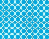 SALE... Robert Kaufman, Metro Living  Circles TURQUOISE 1 yd total