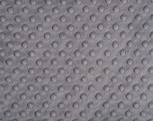 CHARCOAL dimple dot minky fabric 1 yd total