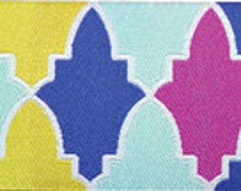 Grand Bazaar ribbon from Patty Young, Persian Wall Sky - 1 yard