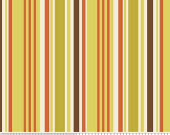 Zoe Pearn and Riley Blake, Indian Summers, Stripe Green, 1/2 YARD
