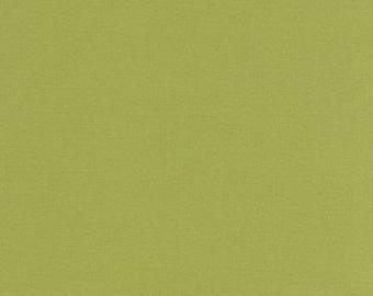 Kona Designer solid cotton, by Robert Kaufman, OLIVE 1/2  YD