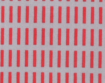 Walk in the Woods from Aneela Hoey for Moda, Dash Stripes in Poppy Cloud, 1/2 yard