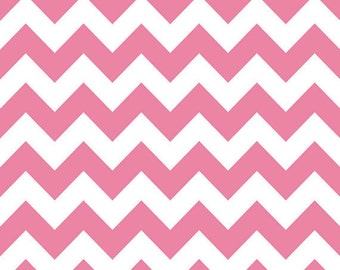 "Medium Chevron in HOT PINK by Riley Blake Designs, End of bolt 26"" total"