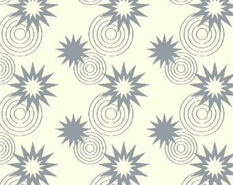 Green Lantern Licensed by David Textiles - Stars and circles grey, End of bolt 21""