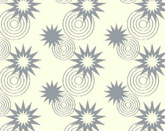 Green Lantern Licensed by David Textiles - Stars and circles grey, 1/2 yd total